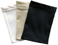 PICC Line Covers - By customer request, now available in a package of 3! Save with  PICC Cover Fashions new 'Basic Collection'.  Set shown in Neutrals. Never run out of clean PICC line sleeves again!