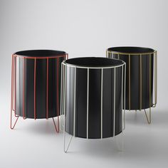Usually relegated to dark corners or hidden cabinets, this vintage-inspired waste basket breaks the mold of typical lackluster trash bins. Inspired by Richard Galef's mid-century modern designs, this Schoolhouse Electric Original is hand crafted in our Portland factory. The hand-welded wire base is hand painted in your choice of hue. A removable black metal bin marries form and function.