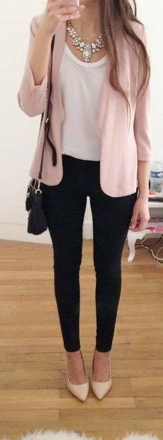 Casual and comfy work outfits inspiration with flats (4) #dressescasual