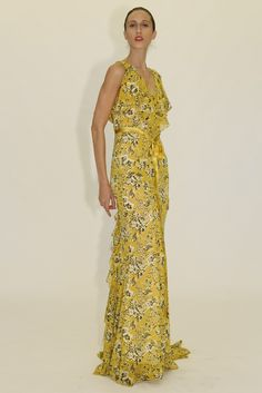 Zac Zac Posen RTW Spring 2014 - Slideshow---ok I'm oozing over this pattern with that yellow! Spring 2014 a season for yellow? Anybody?