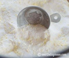 Make your own laundry detergent powder.