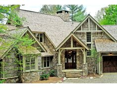 Lovely Rustic French Country Craftsman... Lots of decks and screened in porches...