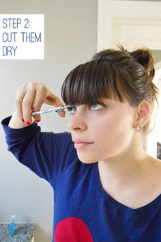 how to cut bangs according to sherry petersik of younghouselove...love that i can do this myself now, will save so much money!