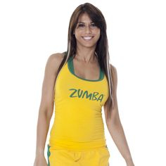 Brazil Racerback | Zumba Fitness Shop New World collection in your favorite World Cup team colors! Click to shop with 10% discount http://www.zumba.com/en-US/store/US/affiliate?affil=10sale