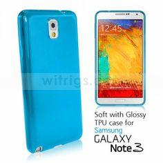Samsung Galaxy Note 3 phone case - Flexible Ultra-thin TPU Case for Samsung Galaxy Note 3 Blue