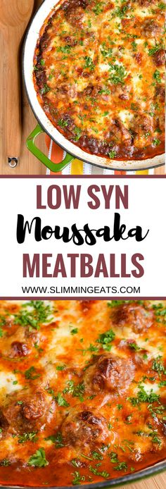Slimming Eats Low Syn Moussaka Meatballs - gluten free, Slimming World and Weigh. astuce recette minceur girl world world recipes world snacks Slimming World Dinners, Slimming World Recipes Syn Free, Slimming Eats, Slimming Word, Healthy Eating Recipes, Diet Recipes, Cooking Recipes, Healthy Meals, Healthy Smoothies