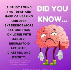 Listening Fatigue. Listening and Lipreading is exhausting for DHH kids.