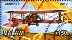 Stamp: Albatros C.X (Cinderellas) (Malawi) Col:MW 2012-15/1