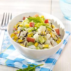 Reissalat mit Kohlrabi und Apfel