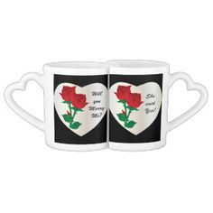 #zazzle #mugs #marryme #red #hearts #hisandhers