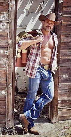 Scruffy Men, Hairy Men, Men In Tight Pants, Hot Country Boys, Cowboys Men, Hunks Men, Cowboy Outfits, Beefy Men, Men In Uniform