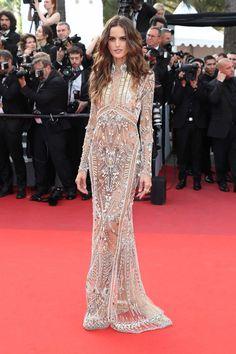 Izabel Goulart in Alexander McQueen - Cannes 2017