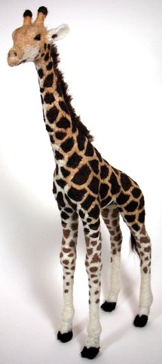 Felted giraffe by ~mysticalis on deviantART