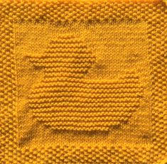 Free Rubber Ducky Knitting Pattern for dishcloth or washcloth or afghan square. Pattern includes written instructions and chart. Knitted Dishcloth Patterns Free, Knitting Squares, Knitted Washcloths, Knit Dishcloth, Baby Knitting Patterns, Knitting Stitches, Free Knitting, Crochet Patterns, Knitting Needles