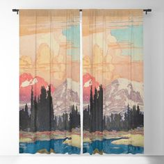 Storms Over Keiisino Blackout Window Curtains & Drapes by Kijiermono - x - Set of Two
