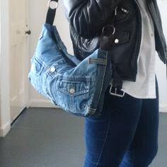 SALE, recycled denim bag, denim bag, denim purse, upcycled, man bag, jeansbag, repurposed denim, denim, denim jacket, denim jeans, levis by reloveduk on Etsy https://www.etsy.com/listing/551736212/sale-recycled-denim-bag-denim-bag-denim