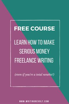 Wanna start freelance writing? Ready to make money writing online and work from home as a solopreneur? I've got your back – check out this FREE course. I'll teach you how to become a freelance writing who makes serious money!