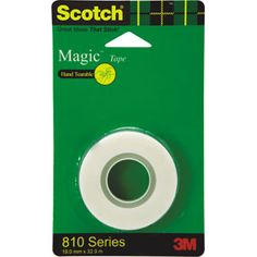 4M : Magic Tapes — Scotch Magic Tape is the original matte-finish, invisible tape. Frosty on the roll but invisible on paper, it's the preferred tape for offices, home offices and schools.