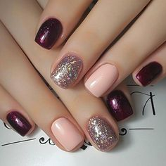 15 Trending Nail Designs That You Will Love! - Best Nail Art, 15 Trending Nail Designs That You Will Love! - Best Nail Art, Professionally performed and how to shape nails coffin pattern on nails can be done not only with the help of brushes Fancy Nails, Trendy Nails, Cute Nails, Cute Simple Nails, Do It Yourself Nails, How To Do Nails, Simple Nail Art Designs, Best Nail Art Designs, Maroon Nail Designs