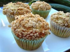 zucchini muffins with streusel topping. I guess I'm not the only one who had this idea after all. : )