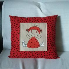 Vankúšik Ladybird za 15€ | Jaspravim.sk Throw Pillows, Cushions, Decorative Pillows, Decor Pillows