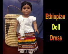 Ethiopia Doll Dress 2 by CCIWorld on Etsy, $15.00  #adoption #internationaladoption #dollclothes #orphans #ethiopiandresses #guatemala