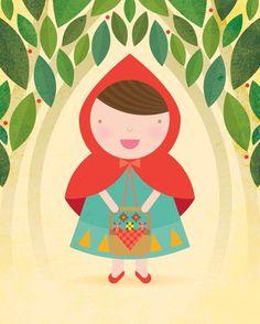 Little Red Riding Hood / Peanutoak Print