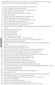 Ultimate List of 45 Man Tips  Words to live by, not just for men