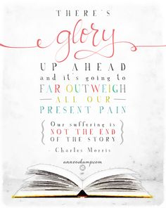 """#MiddaySoulRest: """"There's a glory up ahead and it's going to far outweigh all our present pain. Our suffering is not the end of the story."""""""