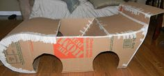 A step-by-step tutorial to create a Race Car out of Cardboard Boxes