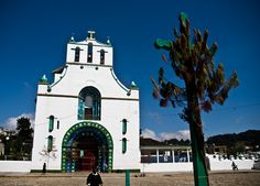 San Juan Chamula, Chiapas Mexico- looks simple, but the inside is simply amazing.  be prepared for something completely new