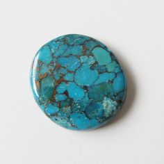 Blue Copper Turquoise - Oval Cabochon, 21.05 cts