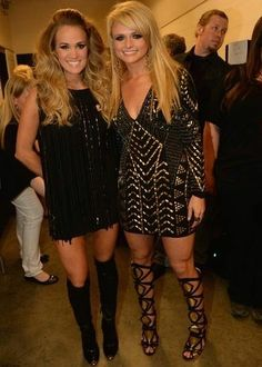 Miranda Lambert Country Music Awards Dress - Jovani 6528 - Black Beaded Long Sleeve Cocktail Dress - Available now at RissyRoos.com $550 - CMT Awards Dress