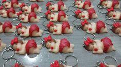 Chaveiro bebês de biscuit