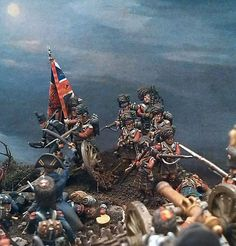 28mm Waterloo diorama created by Luis Gracia Balague features Perry (...)