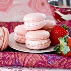 Strawberries and Cream French Macarons Recipe | Key Ingredient