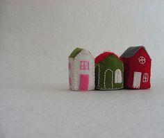 Huisjes van vilt