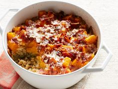 Get this all-star, easy-to-follow Baked Farro and Butternut Squash recipe from Food Network Magazine.