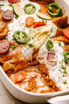 Easy Chicken Enchiladas - Chicken Enchiladas are rich, filling, delicious, and SO easy to make! Best Enchiladas, Breakfast Enchiladas, Homemade Enchiladas, Homemade Enchilada Sauce, Red Enchilada Sauce, Chicken Enchiladas, Enchiladas Healthy, Easy Chicken Thigh Recipes, Leftover Chicken Recipes