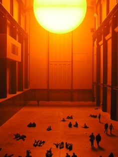 "Eliasson's ""The Weather Project"" in the Tate Turbine Hall (2003)."