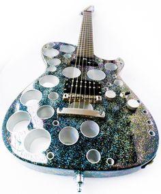 "Matt's new guitar. I call it the ""Manson Cupholder"""