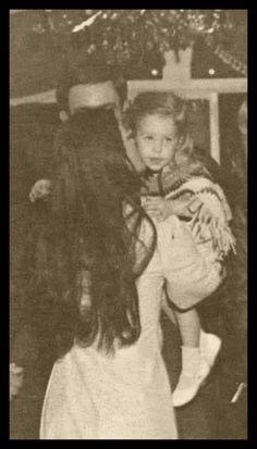 rare: Priscilla and Lisa Marie at Graceland.