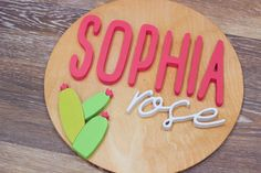 Decorate your nursery with this stylish, modern wooden name sign! Everything is hand crafted with a whole lot of love!  Each piece will be cut, sanded, painted and stained by hand. The stain may vary due to the grains and knots from the wood. That is what makes your sign so unique! Personalized Wooden Signs, Wooden Name Signs, Wooden Names, Wood Signs, Nursery Signs, Wood Letters, Handmade Wooden, Knots, Grains
