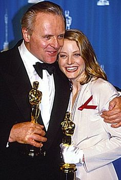 Out of the blue: Hopkins performance as Hannibal Lecter alongside Jodie Foster in The Silence Of The Lambs leads to an Oscar for Best Actor