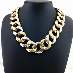 Goldtone and Silvertone Chain Necklace