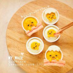 Instagram media by songsweetsong - ❤️ วันนี้ทำเค้กนึงนุ้งไข่อีกแล้วว ว ว ติดตามสูตรและวิธีทำได้ที่ @tamagofreemag เร็วๆนี้นะฮ้าา ❤️ Gudetama steamed cake ver.2 Recipe will be published in #tamagofreemag next month ❤️ またぐでたま☆蒸しパンを作りました〜 #songsweetsong #eatoutbkk Made-to-ordercookies @sweetenupcafe อุปกรณ์ทำอาหาร DIY by @sweetenupfactory ลด50%ทั้งร้าน ถึง20ธค.58 นะค้า