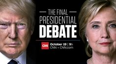 When is the final presidential debate and what are the topics
