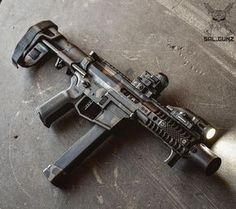 """""""The and PDW brace. A winning combo for sure ・・・ Military Weapons, Weapons Guns, Guns And Ammo, Ar Pistol Build, Ar15 Pistol, Ar Build, Rifles, Airsoft, Battle Rifle"""