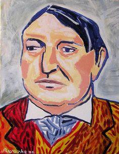 Happy Birthday Maurice de Vlaminck (4 April 1876) | Self Portrait, Maurice de Vlaminck.