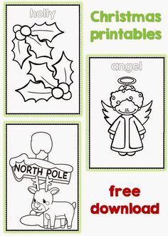 Christmas coloring pages freebie thank you gift to fans.